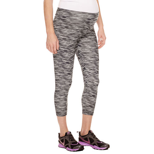 Planet Motherhood Capri Leggings-Maternity