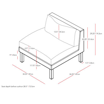 Corliving Conversational Chair