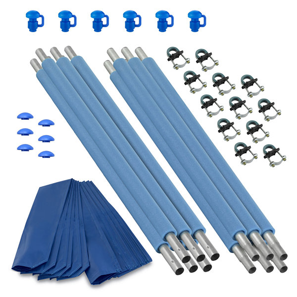 Upper Bounce Trampoline Replacement Enclosure Poles & Hardware- Set of 6 -Net Sold Separately