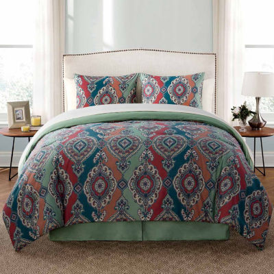 VCNY Normandy Damask Complete Bedding Set with Sheets
