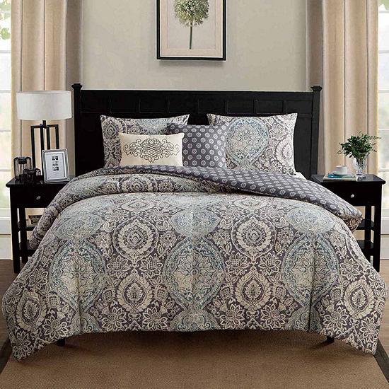 VCNY Valencia Damask Comforter Set