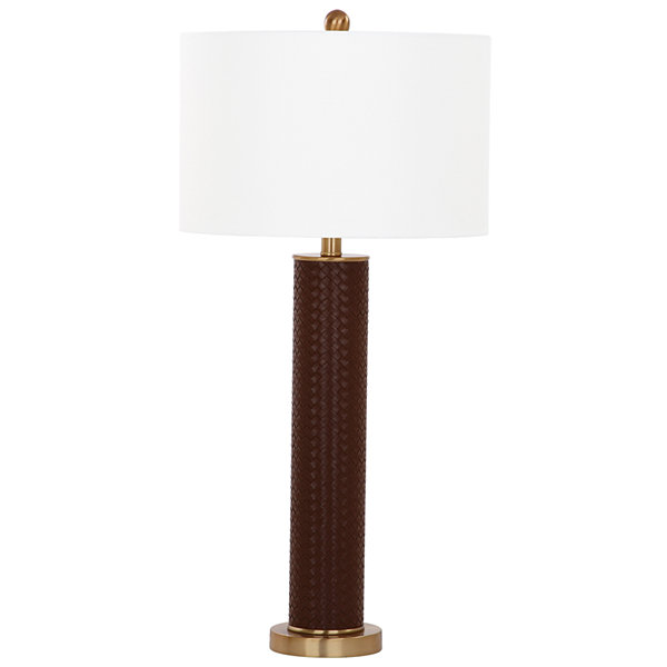 Safavieh Ollie Faux Woven Leather Table Lamp