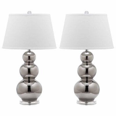 Safavieh Pamela Triple Gourd Ceramic Lamp