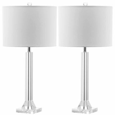 Safavieh Tyrone Crystal Column Lamp