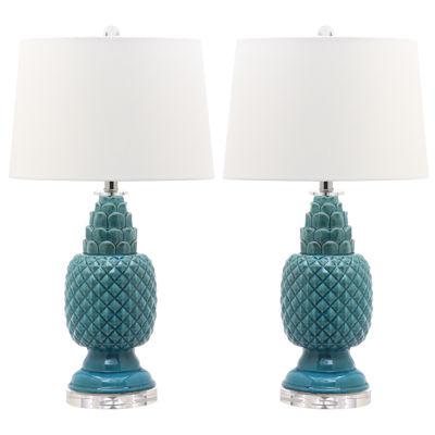 Safavieh Blakely Teal Table Lamp