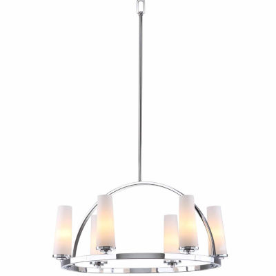 Safavieh Lunar 6 Light Chrome Adjustable Pendant