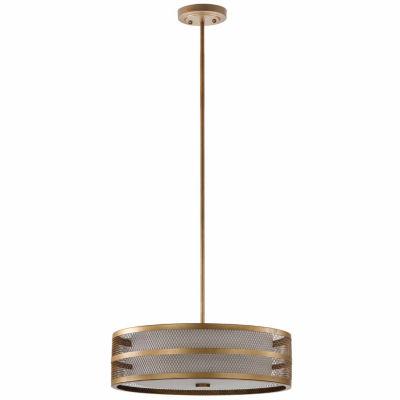 Safavieh Greta Veil 4 Light Antique Gold Adjustable Pendant