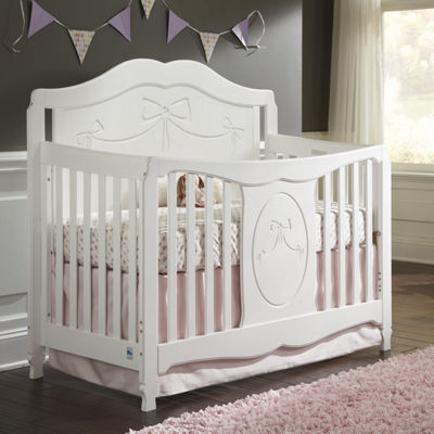 Storkcraft Princess 4-in-1 Convertible Crib - White