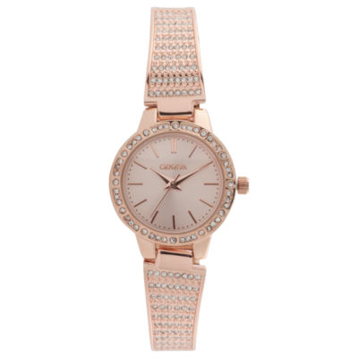 Geneva Womens Rose Goldtone Bracelet Watch-Jcp3029rg