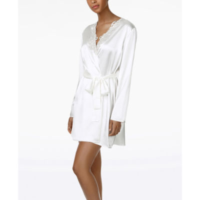 Flora By Flora Nikrooz Long Sleeve Charmeuse Robe