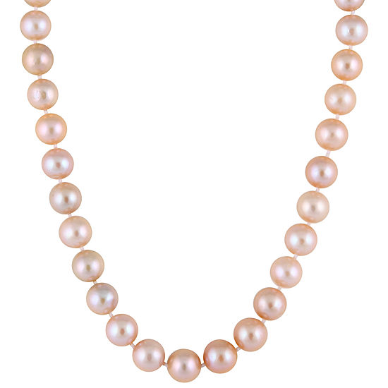 Splendid Pearls Womens 10MM Purple Cultured Freshwater Pearl 14K Gold Strand Necklace
