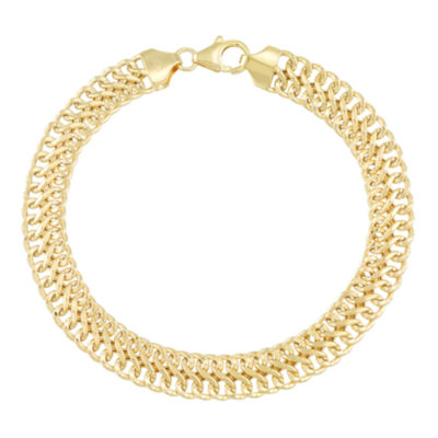 Made in Italy 18K Gold 7 Inch Hollow Chain Bracelet