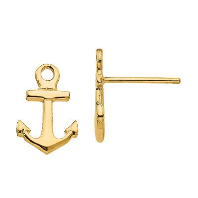 14K Gold 12mm Stud Earrings