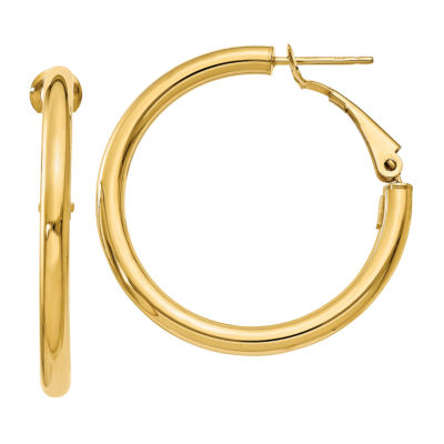 Made In Italy 14K Gold 25mm Round Hoop Earrings