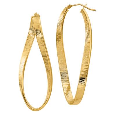 Made In Italy 14K Gold 54mm Oval Hoop Earrings