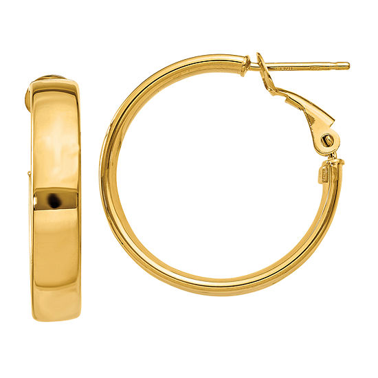 Made In Italy 14K Gold 21mm Round Hoop Earrings