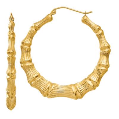 14K Gold 33mm Hoop Earrings