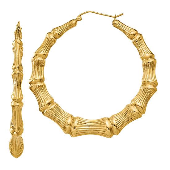 14K Gold 43mm Hoop Earrings