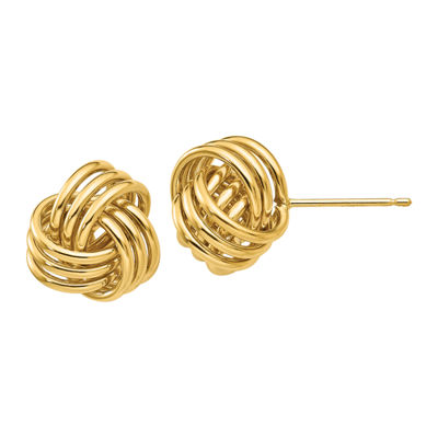 14K Gold 12mm Knot Stud Earrings