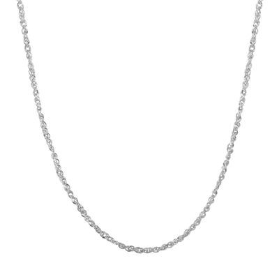 Birthstone Babies 10K White Gold Chain Necklace