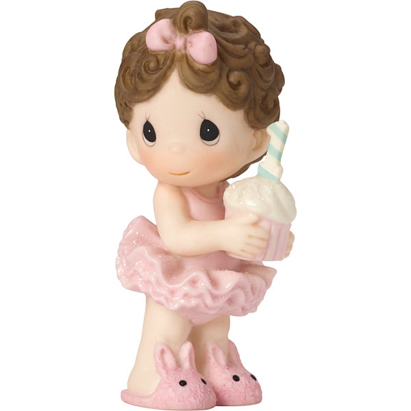 Precious Moments Girls 1st Birthday Figurine Baby Milestones - Girls