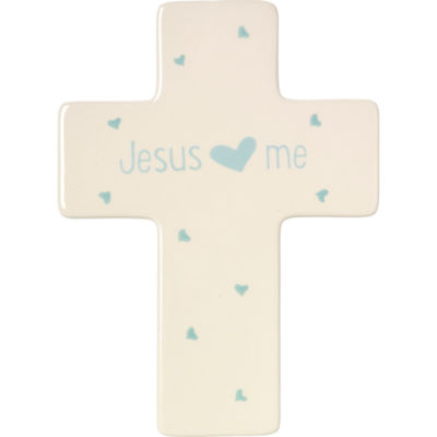 Precious Moments Jesus Loves Me Boy Cross Baby Milestones - Unisex