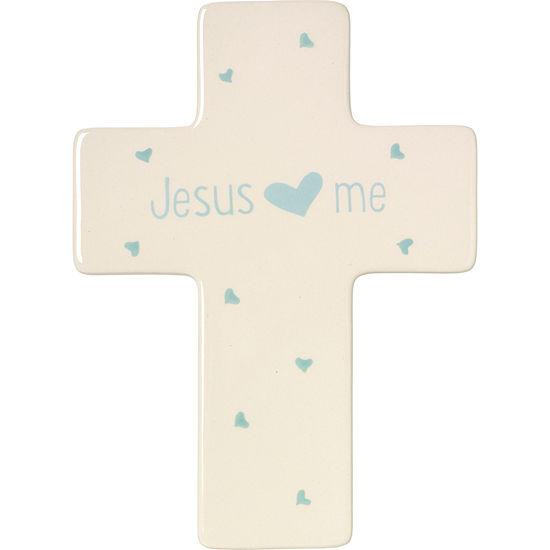 Precious Moments Jesus Loves Me Boy Cross Baby Milestones - Unisex