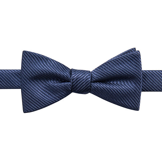 JF J.Ferrar Striped Bow Tie