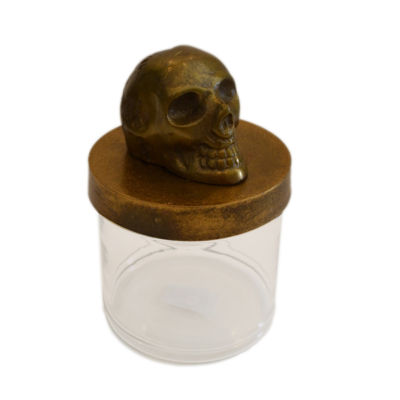 R16 Home Kraw Rustic Skull Decorative Jar