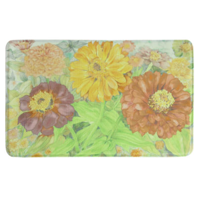 Bacova Guild Zinnia Garden Printed Rectangular Anti-Fatigue Rugs