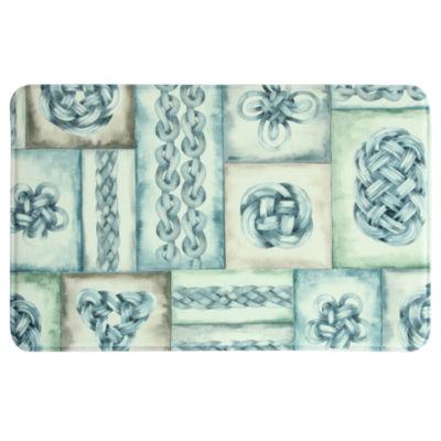 Bacova Guild Knot Blocks Printed Rectangular Anti-Fatigue Rugs
