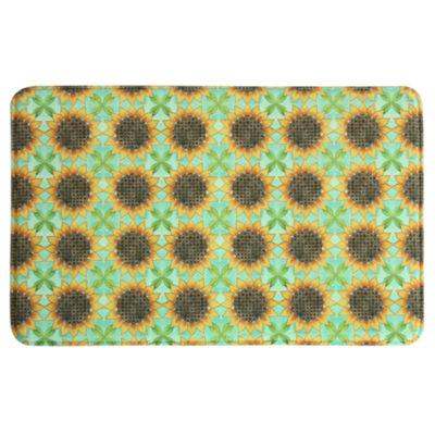 Bacova Guild Sunflower Tiles Printed Rectangular Anti-Fatigue Rugs