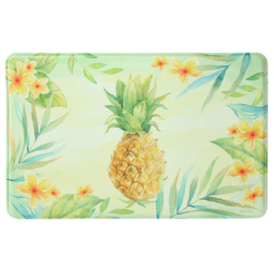 Bacova Guild Tropical Pineapple Printed Rectangular Anti-Fatigue Rugs