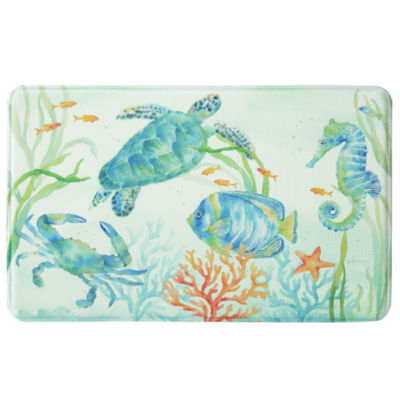 Bacova Guild Sea Serenade Printed Rectangular Anti-Fatigue Rugs