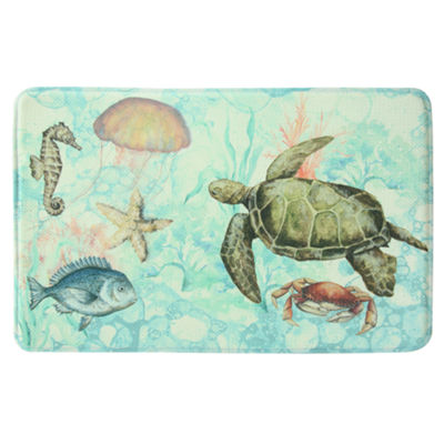 Bacova Guild Bubble Sea Printed Rectangular Anti-Fatigue Rugs