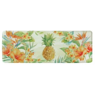 Bacova Guild Pineapple Printed Rectangular Anti-Fatigue Rugs