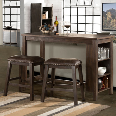 Hillsdale House Spencer 3-pc. Counter Height Set with Saddle Stools