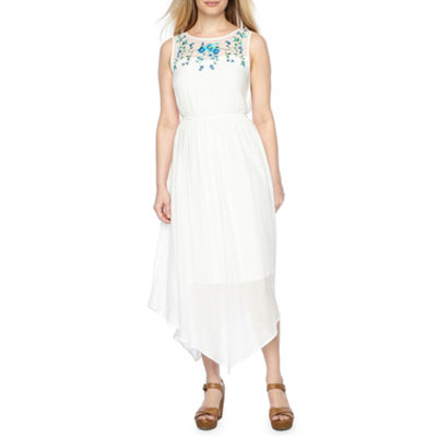 Byer California Sleeveless Embroidered Sundress-Petite