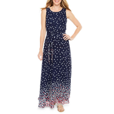 R & K Originals Sleeveless Ombre Dot Maxi Dress