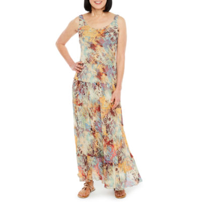 Black Label by Evan-Picone Sleeveless Floral Maxi Dress