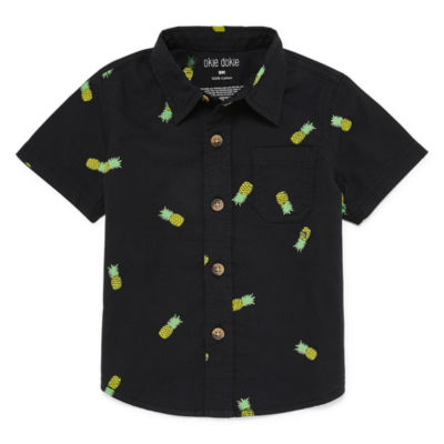 Okie Dokie Pineapple Short Sleeve Woven - Baby Boy NB-24M