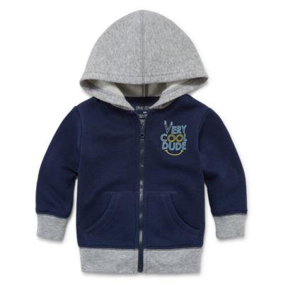 Okie Dokie Fleece Zip Up Hoodie - Baby Boy NB-24M