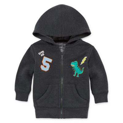 Okie Dokie Dinosaur Fleece Zip Up Hoodie - Baby Boy NB-24M