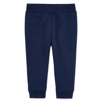 Okie Dokie Navy Fleece Pull-On Pant - Baby Boy NB-24M