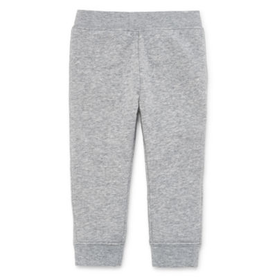 Okie Dokie Grey Fleece Pull-On Pant - Baby Boy NB-24M