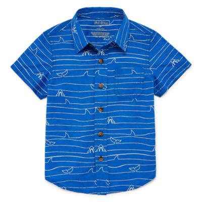 Okie Dokie Short Sleeve Button-Front Shirt Boys