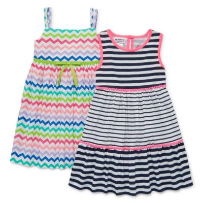 Blueberi Boulevard Sleeveless 2pk Dresses  - Toddler Girls