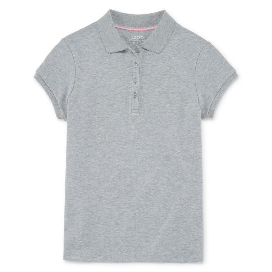 Izod Exclusive Short Sleeve Knit Polo Girls 4-18 and Plus
