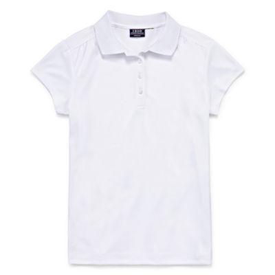 Izod Short Sleeve PerformancePolo Shirt Girls 4-18 and Plus