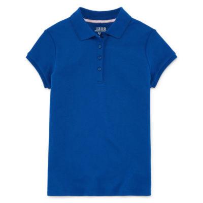 IZOD Little & Big Girls Short Sleeve Stretch Polo Shirt